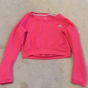 Adidas Running Long Sleeved Cropped Sweatshirt